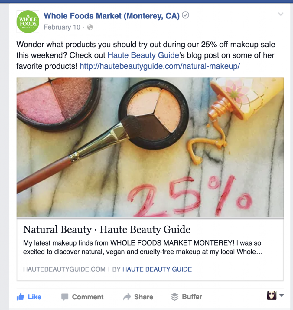 Whole Foods Makeup Collaboration