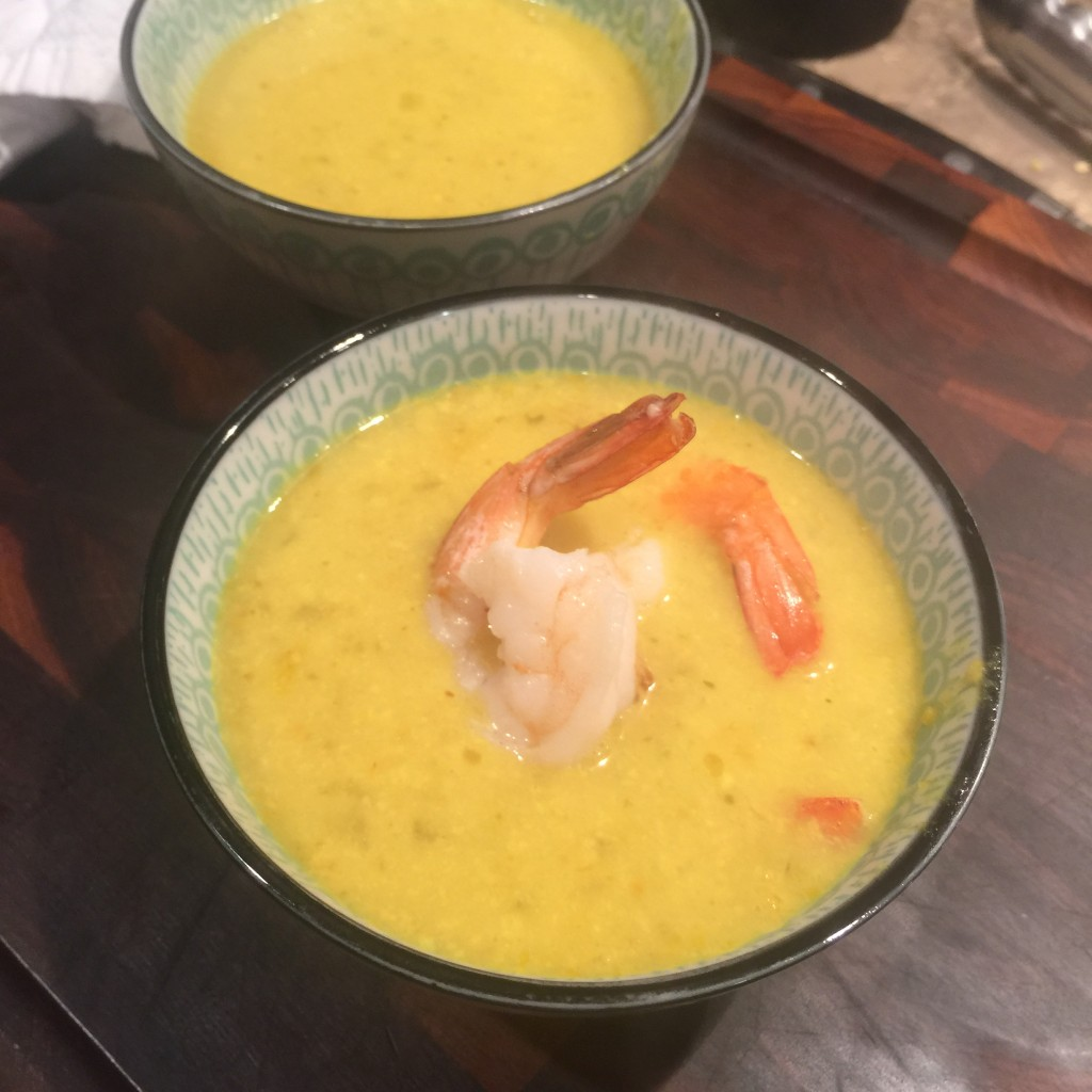 Thai Curry Shrimp Chicken Soup