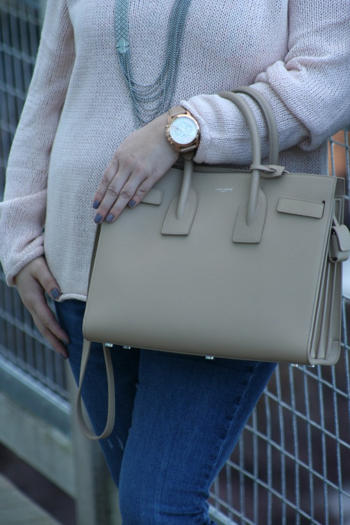 Fossil Watch with Saint Laurent Sac de Jour