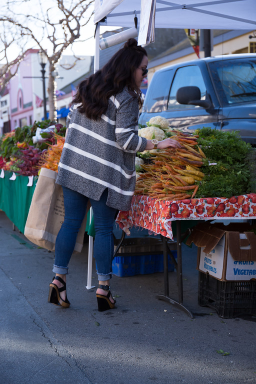 Farmer's Market in Downtown Monterey ft. Madewell