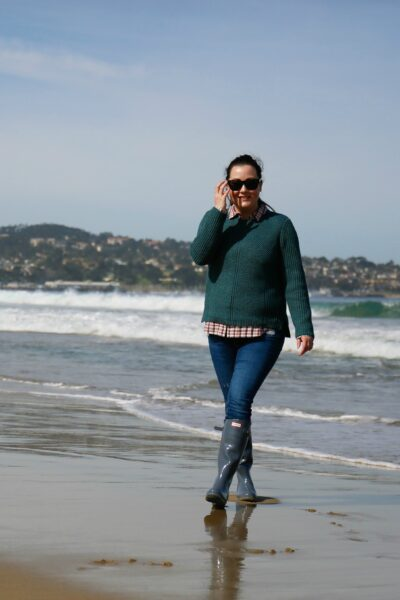 Beach Day with Hunter Rain Boots and Madewell featured by popular California life and style blogger, Haute Beauty Guide