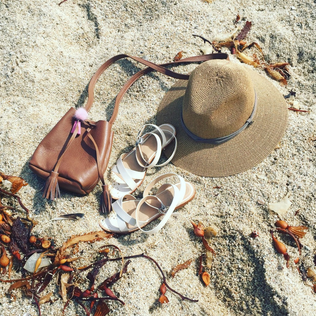 Big Sur, Jcrew sandals, Schaffer LA bag, Popsugar Hat