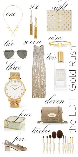 Gold Trend Favorites featured by popular California style blogger, Haute Beauty Guide