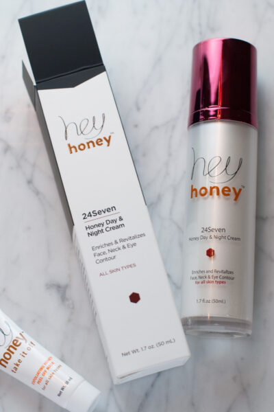hey honey 24Seven Cream | Fall Skincare with Hey Honey 24Seven Cream and Discount code featured by popular California life and style blogger, Haute Beauty Guide