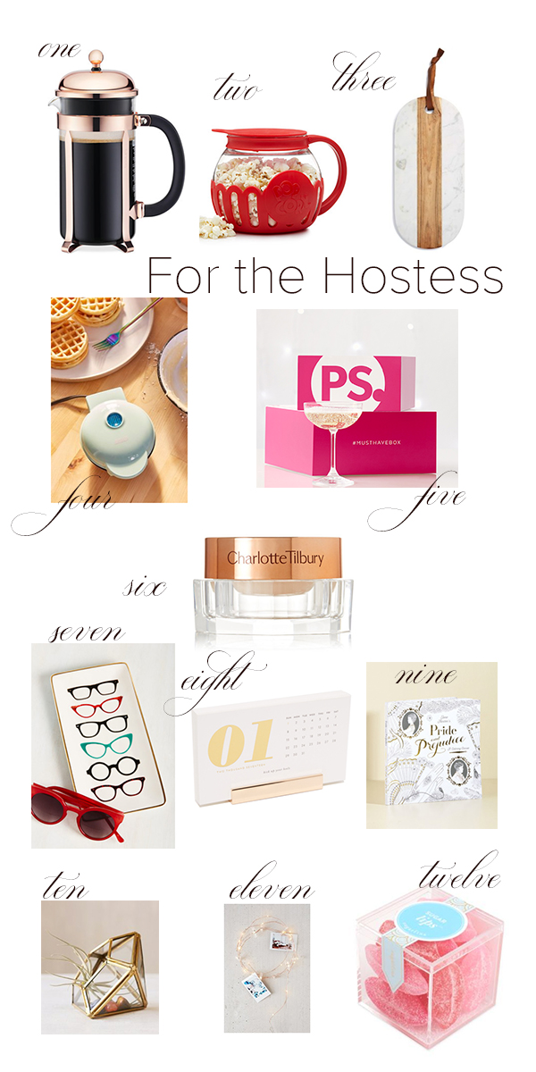 hostes gifts under $100 that don't include the basic candle/wine