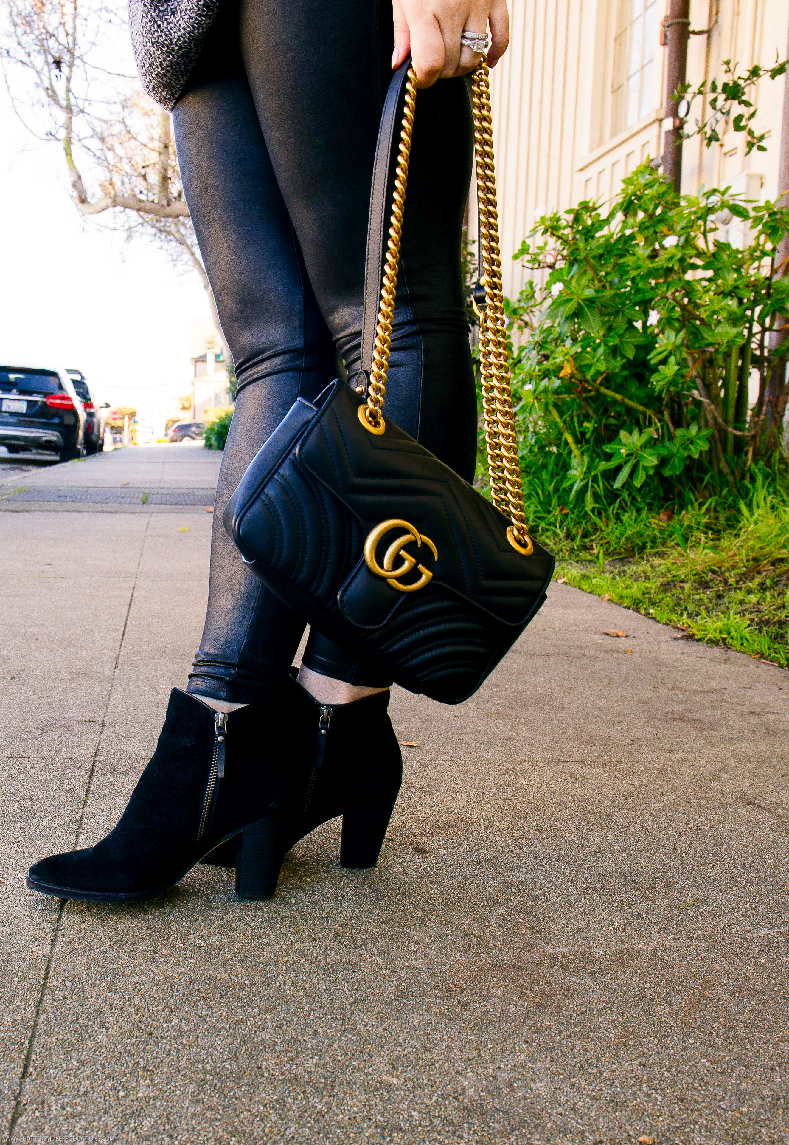 Gucci Marmont mini bag style by popular California fashion blogger, Haute Beauty Guide