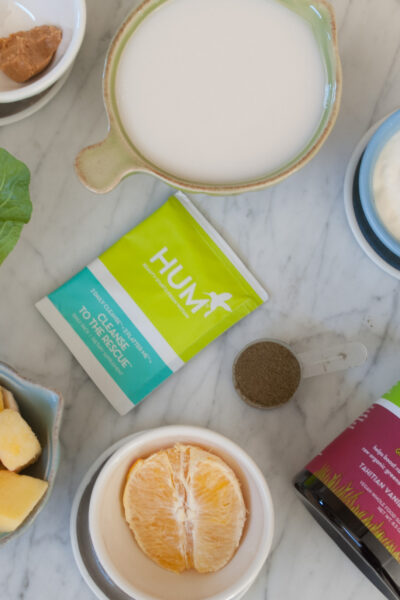 Hum Nutrition Raw Super Greens - My 3 Favorite Green Smoothie Recipes with HUM Nutrition Raw Beauty Green Superfood Powder featured by popular California life and style blogger, Haute Beauty Guide