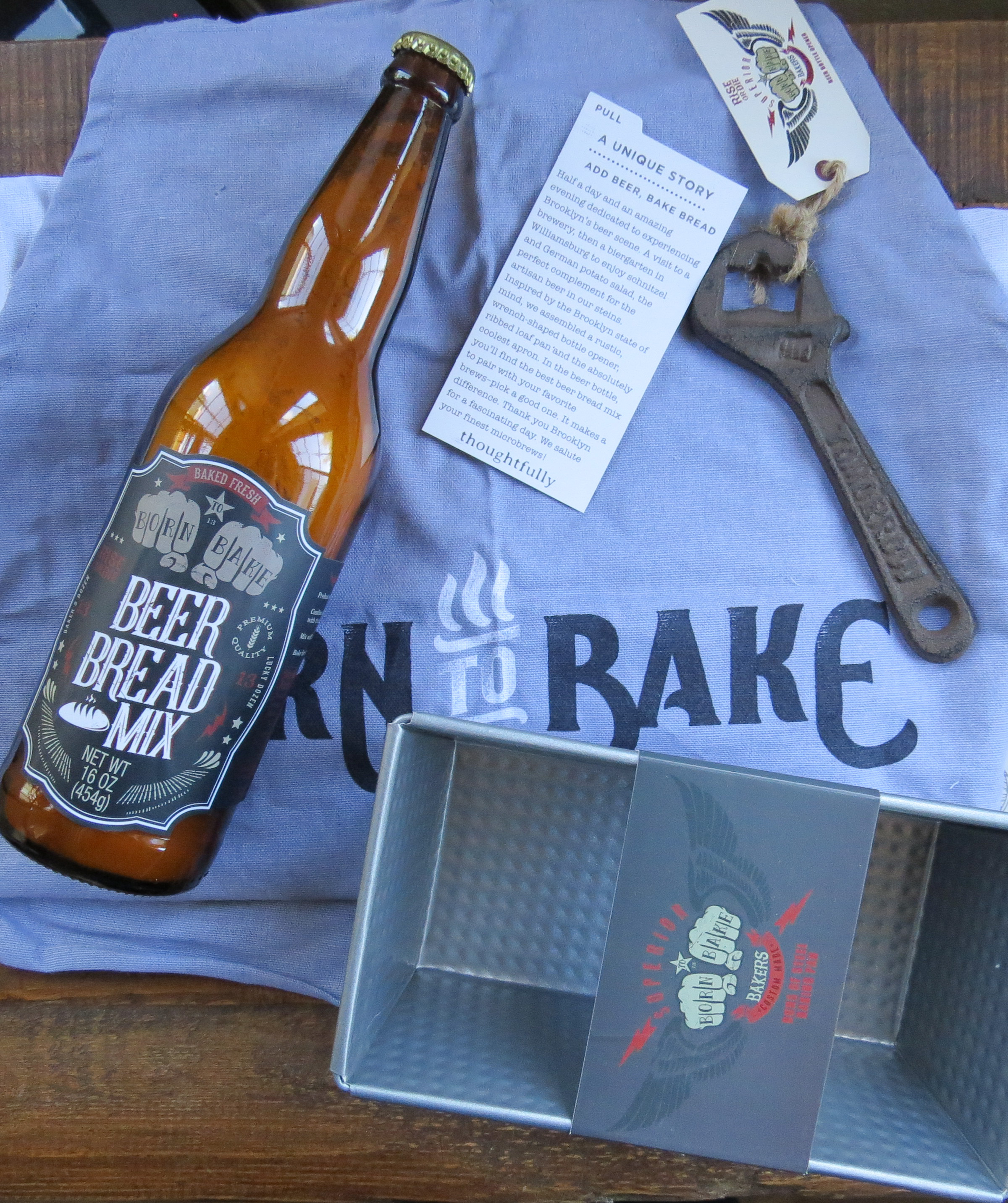 Thoughtfully Gifting add beer, bake bread A Beer Bread Lover's Gift Set on sale!