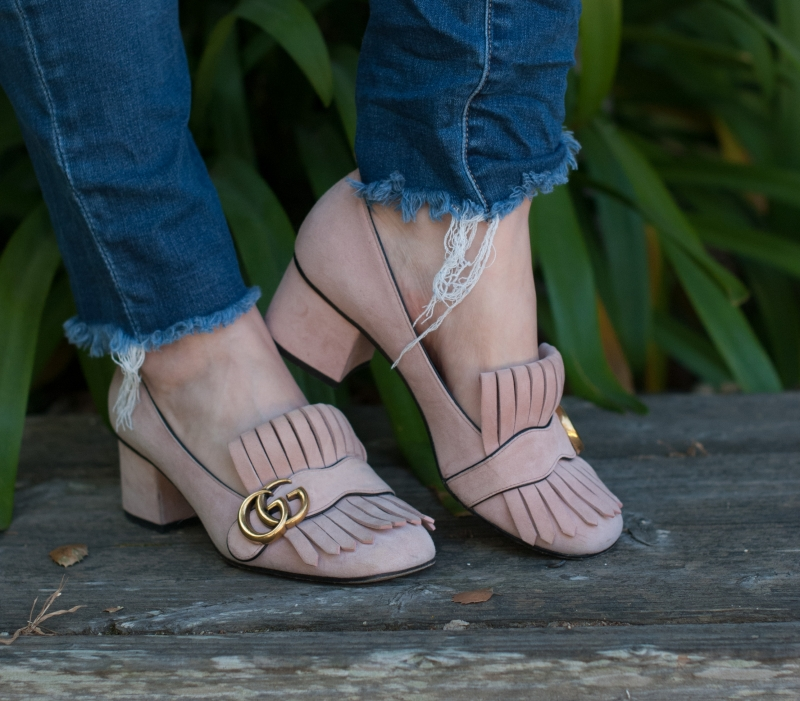 Five Perfectly Pink Shoes for Spring Gucci Marmont