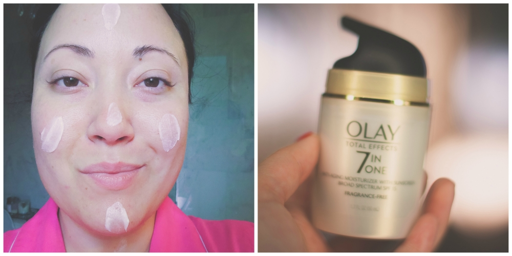 olay 28 day challenge with TOTAL EFFECTS 7-IN-1 ANTI-AGING DAILY FACE MOISTURIZER