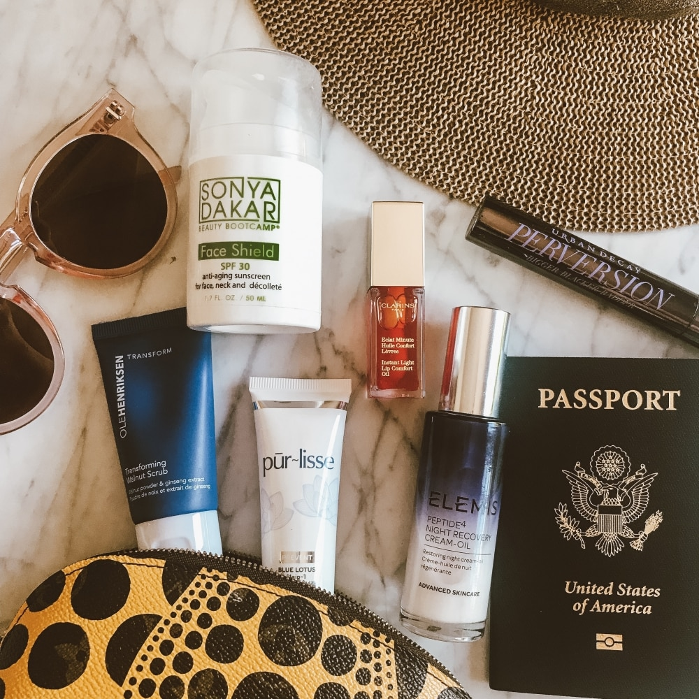 How to Pick Travel Skin Care Products featured by popular California beauty blogger Haute Beauty Guide