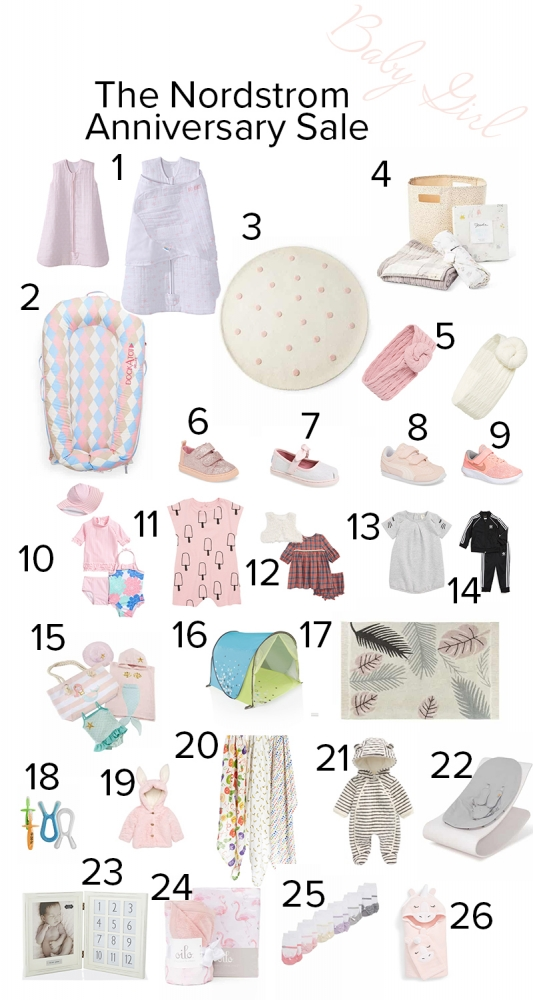 Cute Baby Girl Gifts to Buy from the Nordstrom Anniversary Sale featured by popular California mommy blogger Haute Beauty Guide