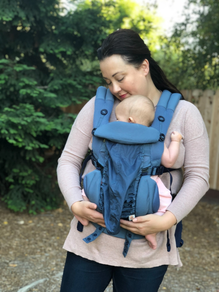 Ergobaby Omni 360 Baby Carrier All-In-One  Cool Air Mesh Review featured by popular California lifestyle blogger Haute Beauty Guide