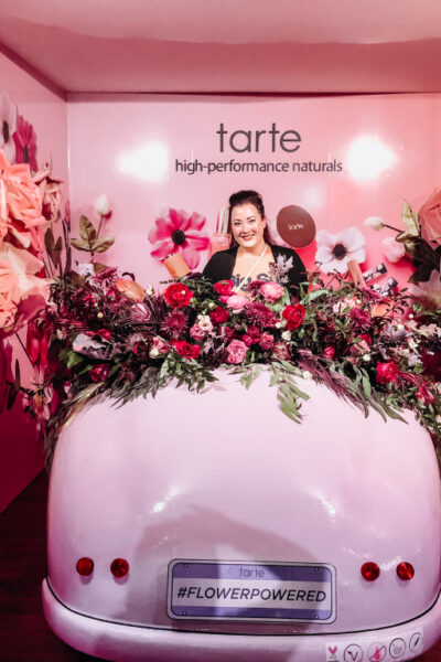 Sephoria Tarte Flower Car | Sephoria 2018 Recap featured by top California beauty blog Haute Beauty Guide
