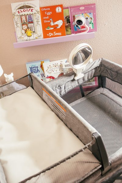 Useful Baby Gifts That New Moms Will Actually Use by popular California lifestyle blog, Haute Beauty Guide: image of a Omie View Bassinet mirror.