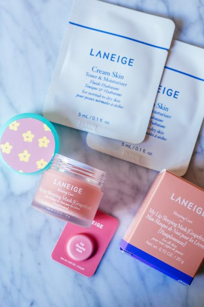 Sephoria 2019 by popular California beauty blog, Haute Beauty Guide: image of Laneige skin care products.