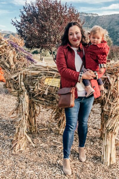Mommy and Me at the Pumpkin Patch