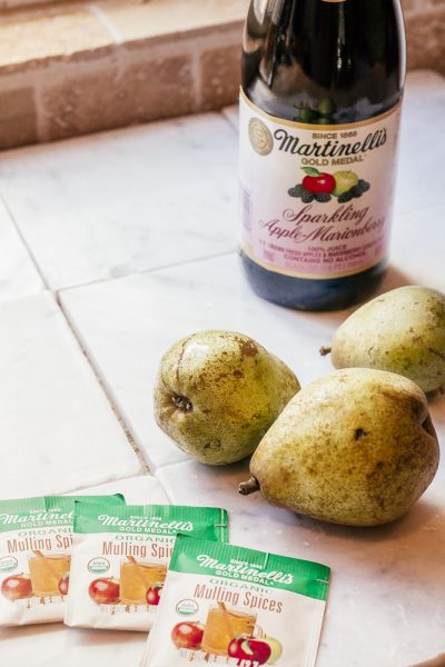 Apple Cider Poached Pears Recipe featured by top US lifestyle blog, Haute Beauty Guide