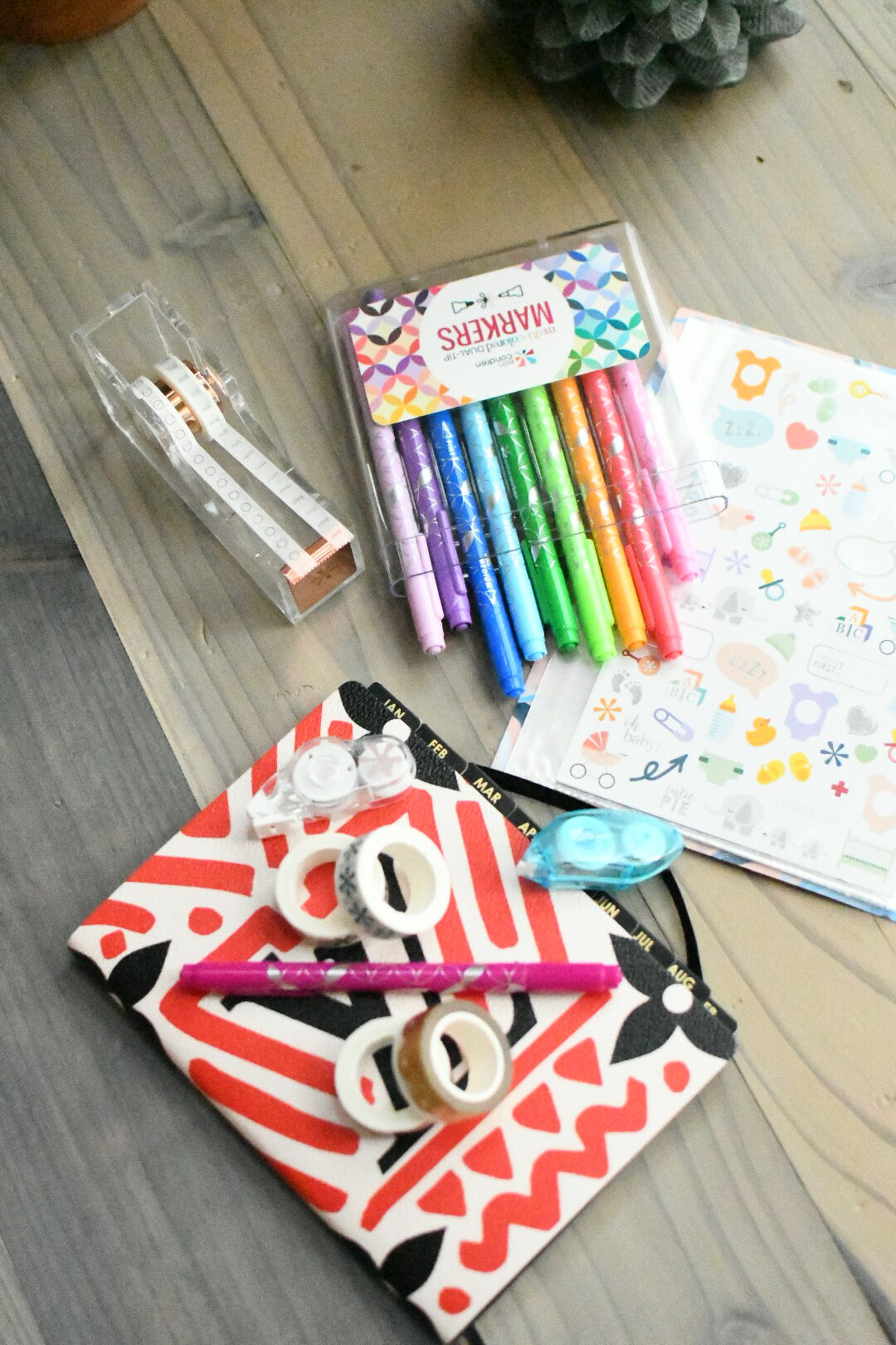 Erin Condren Black Friday Sale by popular Monterey lifestyle blog, Haute Beauty Guide: image of washi tape, markers, stickers, and white out tape.