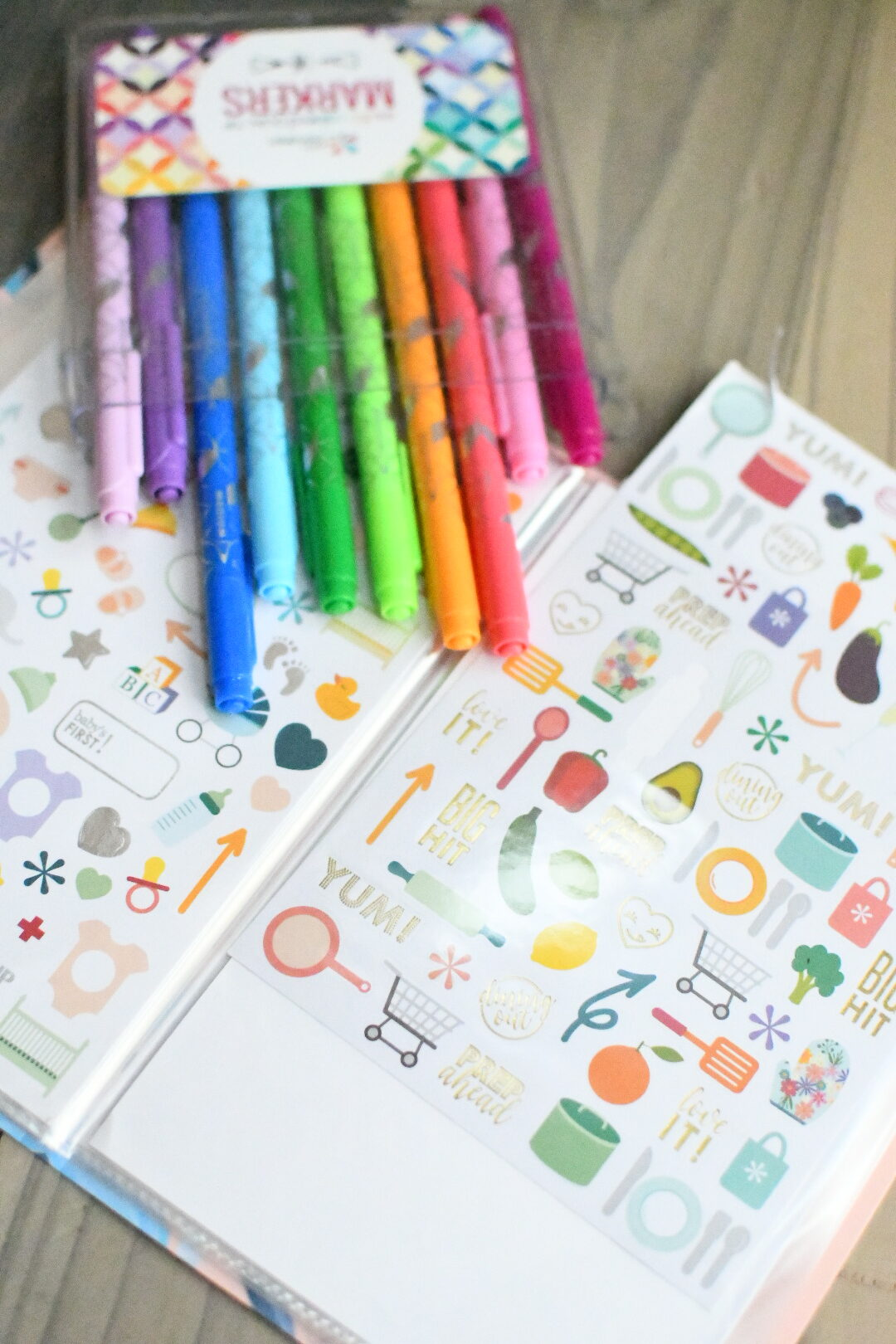 Erin Condren Black Friday Sale by popular Monterey lifestyle blog, Haute Beauty Guide: image of makers and sticker sheets.