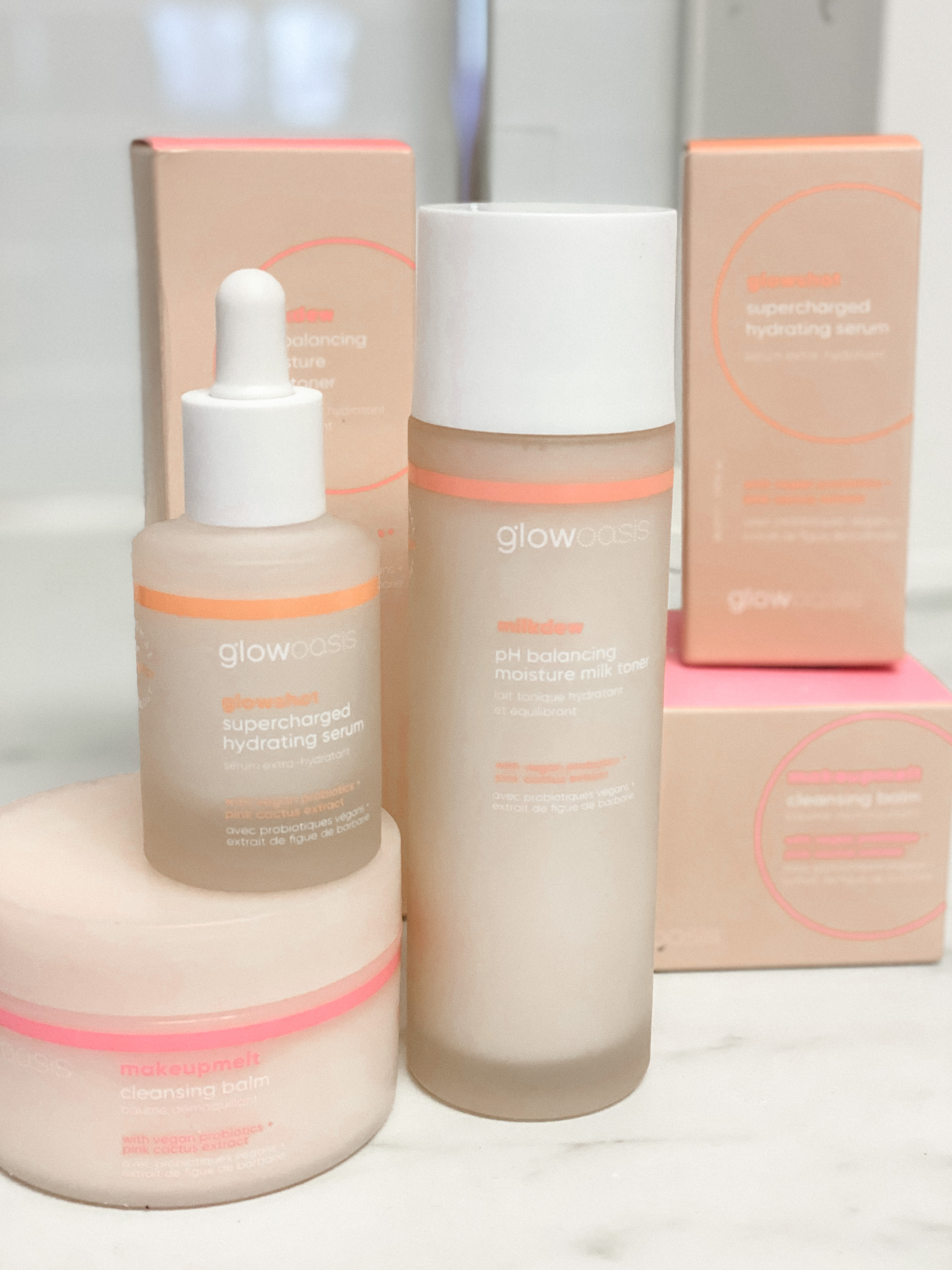 GlowOasis Skincare by popular Monterey beauty blog, Haute Beauty Guide: image of GlowOasis skincare probiotic products.