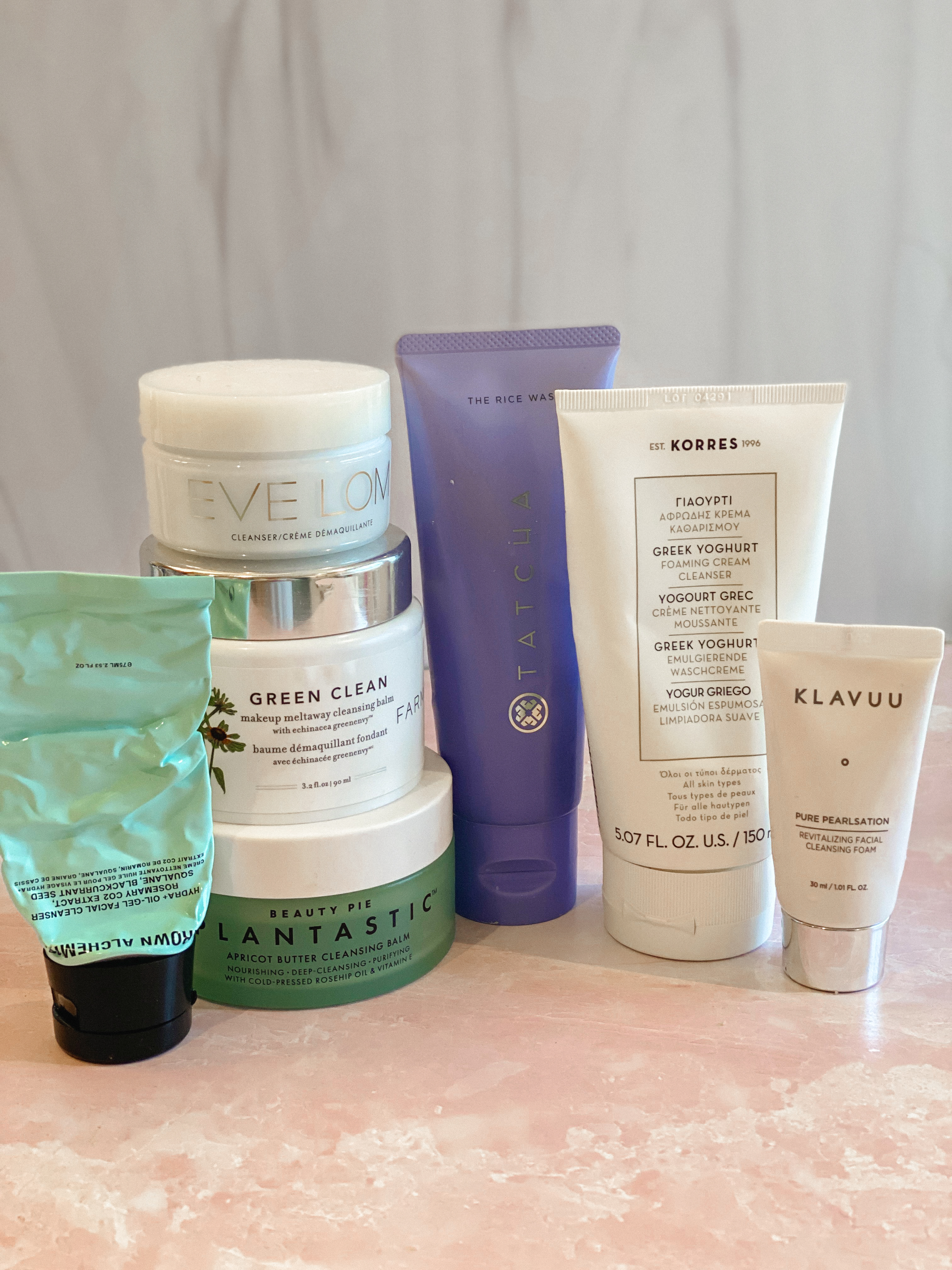 Winter Skincare by popular Monterey beauty blog, Haute Beauty Guide: image of Beuaty Pie Lantastic, Kores, Klavuu, Evelom, and Green Clean beauty products.