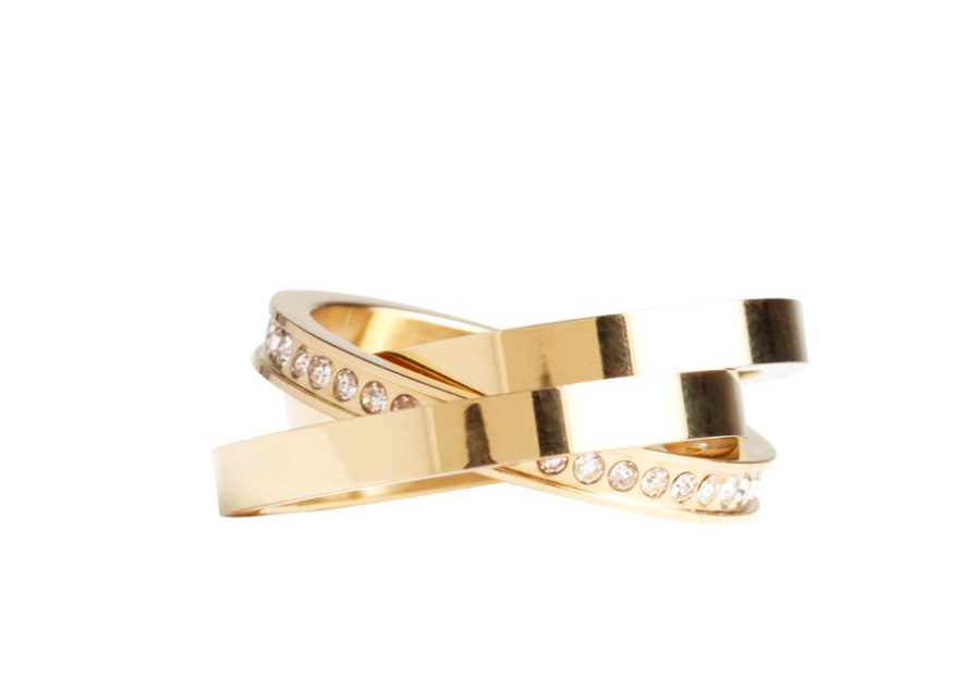 Spring Curateur Box by popular Monterey life and style blog, Haute Beauty Guide: image of a gold and cz crystal ring.