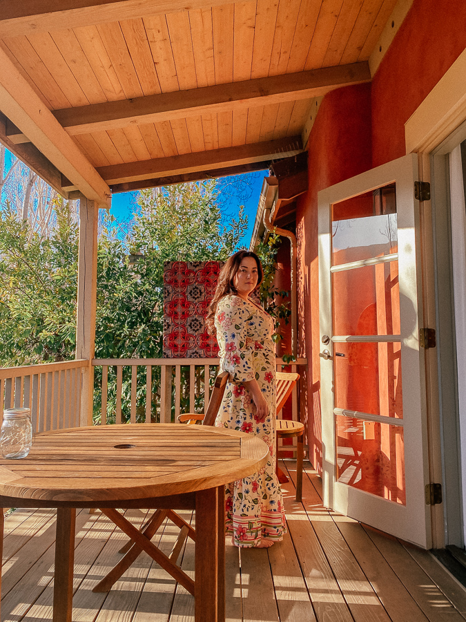 Bernardus Lodge by popular Monterey travel blog, Haute Beauty Guide: image of a woman at the Bernardus Lodge.