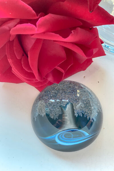 Carmel Plaza by popular Monterey lifestyle blog, Haute Beauty Guide: image of a glass paperweight.