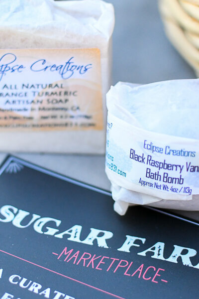 Carmel Plaza by popular Monterey lifestyle blog, Haute Beauty Guide: image of Sugar Farms market place beauty supplies.