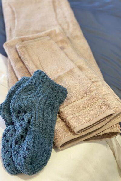 Carmel Plaza by popular Monterey lifestyle blog, Haute Beauty Guide: image of a pair of knit socks.