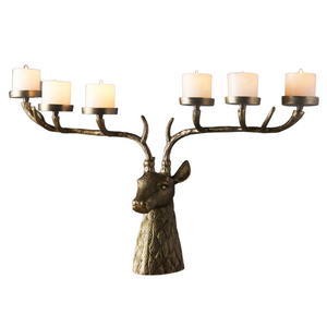 Stag Head Candle Holder
